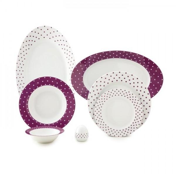 Zarin Iran Italia F Spotty Violet 28pcs Dinnerware Set