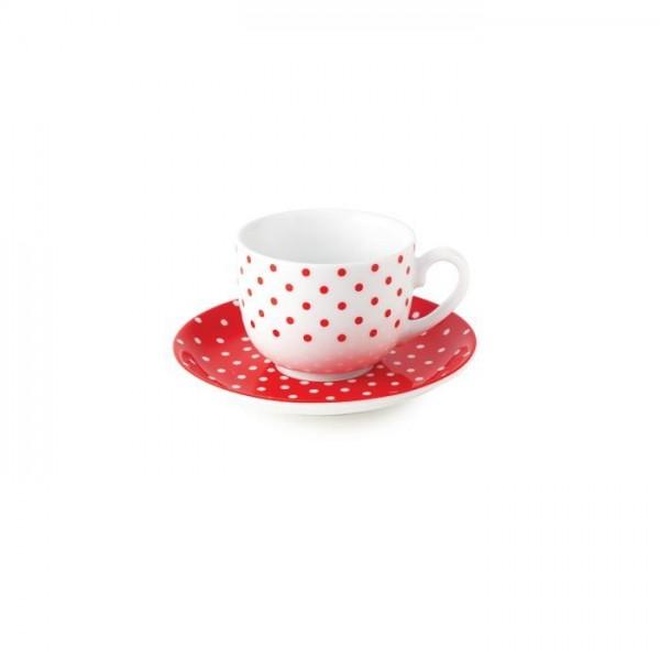 Zarin Iran Italia F Spotty Red 12pcs Tea Set