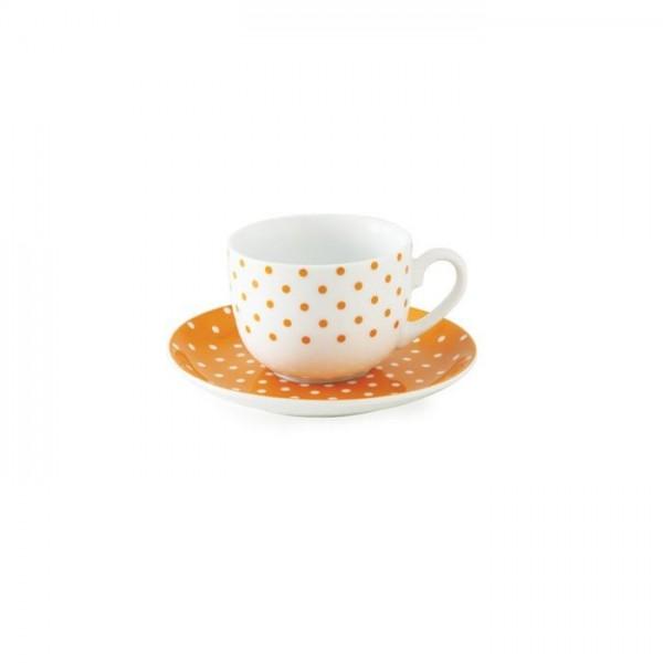 Zarin Iran Italia F Spotty Orange 12pcs Tea Set