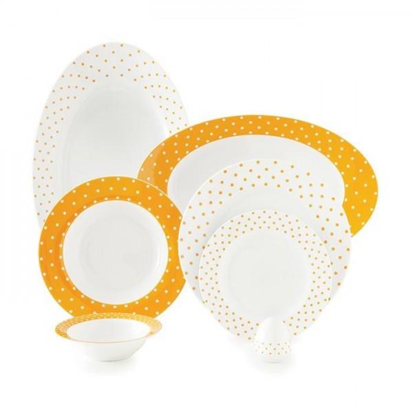 Zarin Iran Italia F Spotty Orange 28pcs Dinnerware Set