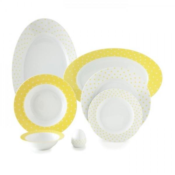 Zarin Iran Italia F Spotty Yellow 28pcs Dinnerware Set