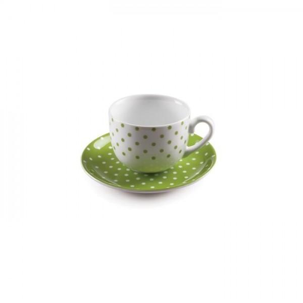 Zarin Iran Italia F Spotty Green 12pcs Tea Set