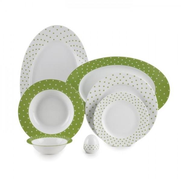 Zarin Iran Italia F Spotty Green 28pcs Dinnerware Set