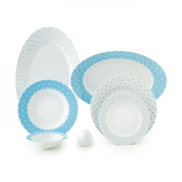 Zarin Iran Italia F Spotty Blue 28pcs Dinnerware Set