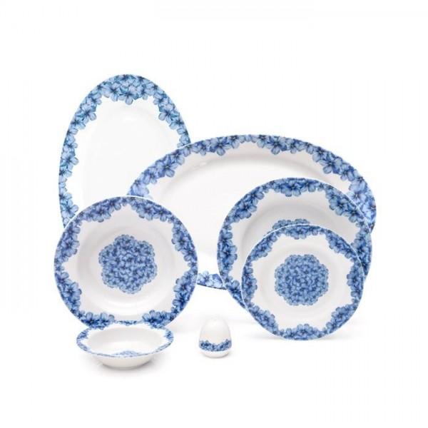 Zarin Iran Italia F Golshid Blue 28pcs Dinnerware Set