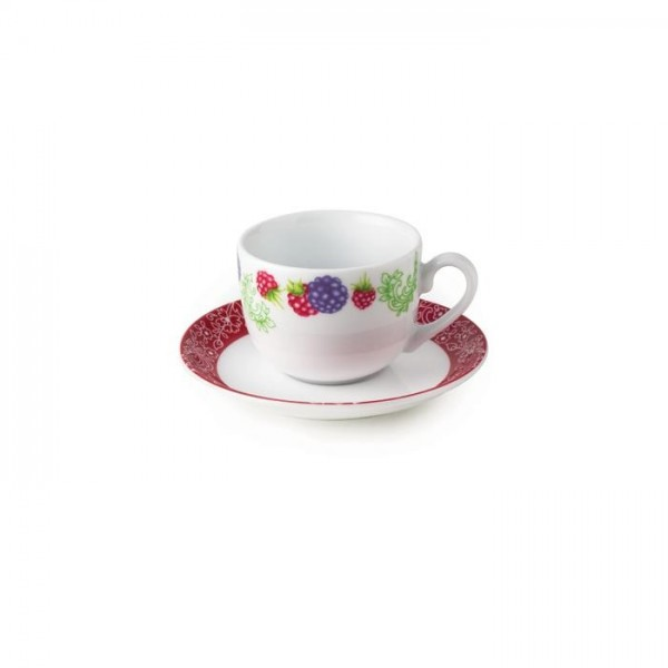 Zarin Iran Italia F Red Berry 12pcs Tea Set