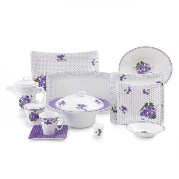 Zarin Iran Vinci Jasmin Violet 97pcs Dinnerware Set