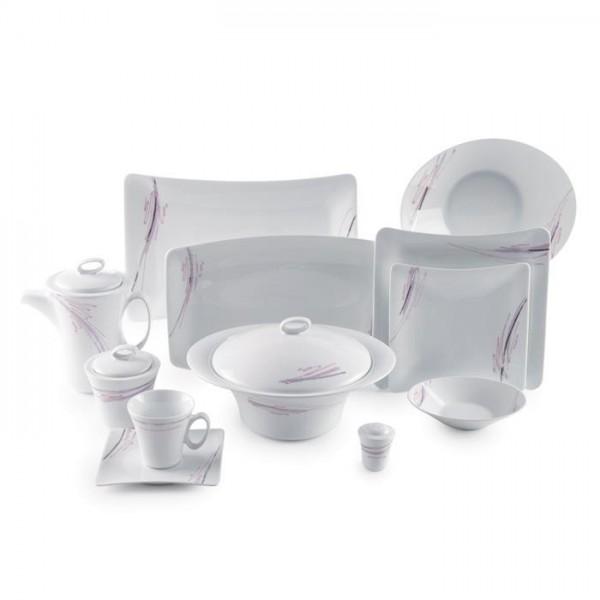 Zarin Iran Vinci Alba Platinum 97pcs Dinnerware Set