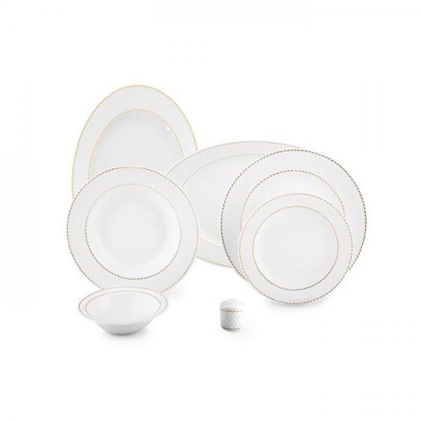 Zarin Iran Radiance Milano White 28pcs Dinnerware Set