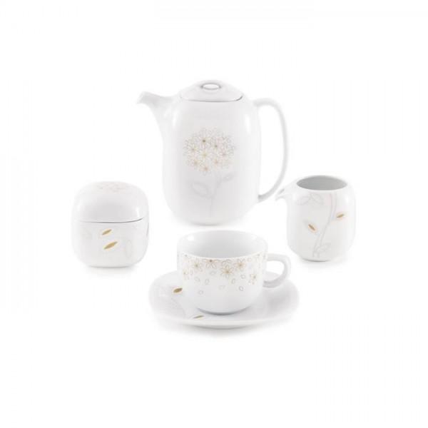 Zarin Iran Quattro Golden Lotus 17pcs Tea Set