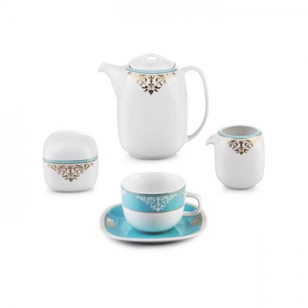 Zarin Iran Quattro Armitage Turquoise 17pcs Tea Set