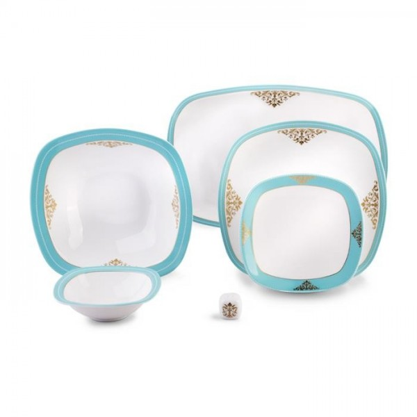 Zarin Iran Quattro Armitage Turquoise 27pcs Dinnerware Set