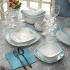 Zarin Iran Quattro Armitage Turquoise 98pcs Dinnerware Set