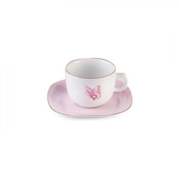 Zarin Iran Quattro Rose Flower 12pcs Tea Set