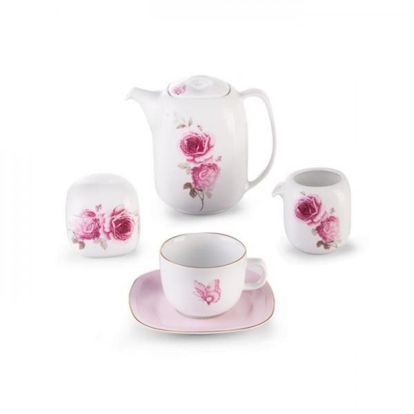 Zarin Iran Quattro Rose Flower 17pcs Tea Set