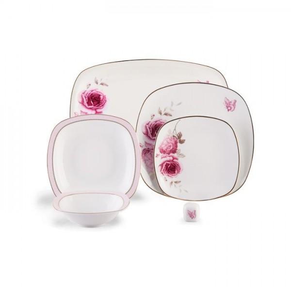Zarin Iran Quattro Rose Flower 27pcs Dinnerware Set