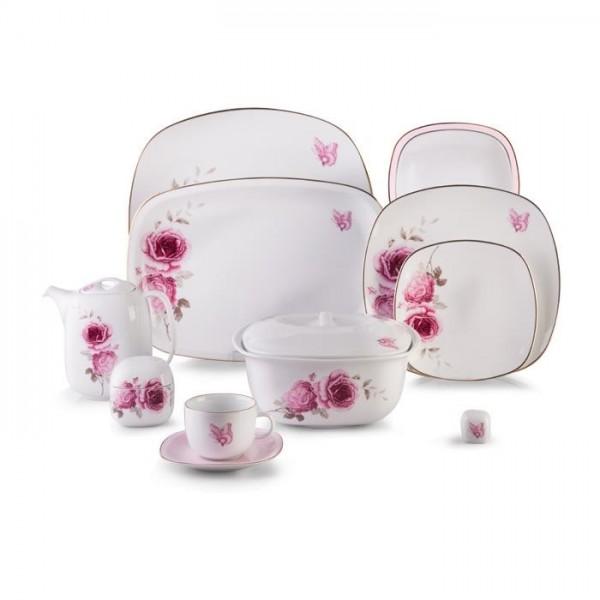 Zarin Iran Quattro Rose Flower 98pcs Dinnerware Set