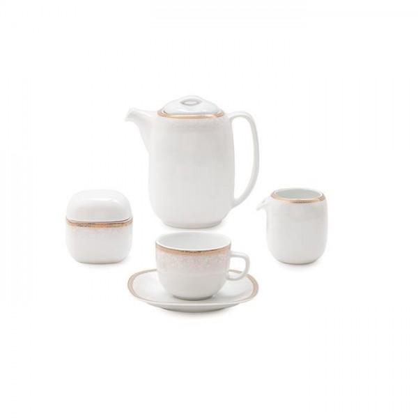 Zarin Iran Quattro Riva Gold 17pcs Tea Set