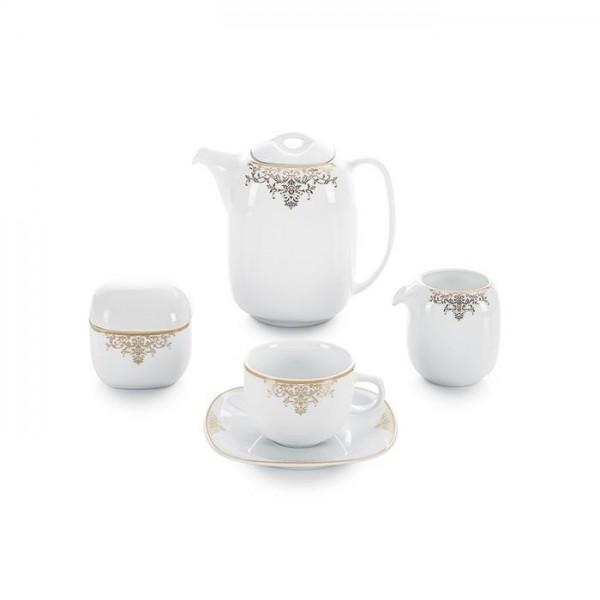 Zarin Iran Quattro Monte Carlo Gold 17pcs Tea Set