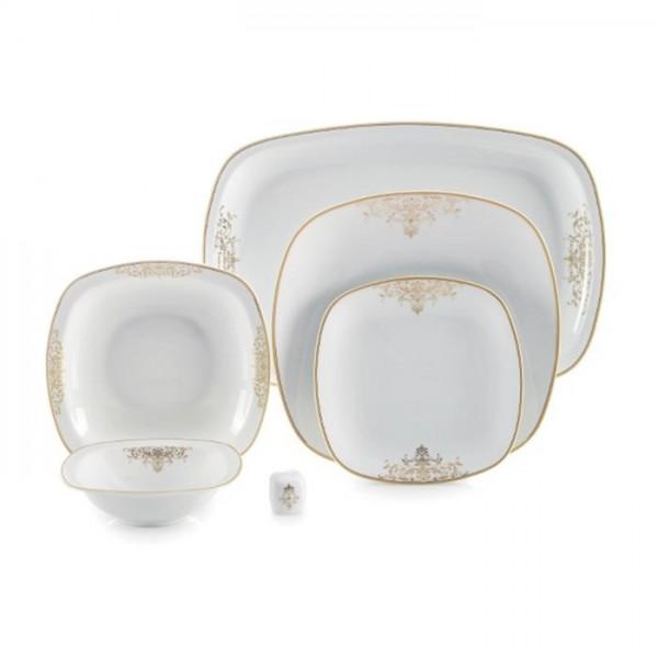 Zarin Iran Quattro Monte Carlo Gold 27pcs Dinnerware Set