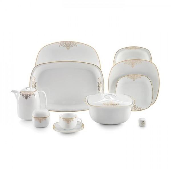 Zarin Iran Quattro Monte Carlo Gold 98pcs Dinnerware Set