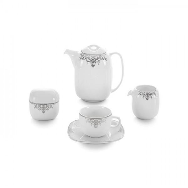 Zarin Iran Quattro Monte Carlo Platinum 17pcs Tea Set