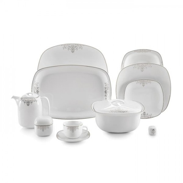 Zarin Iran Quattro Monte Carlo Platinum 98pcs Dinnerware Set