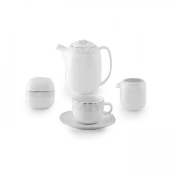 Zarin Iran Quattro Louren Platinum 17pcs Tea Set