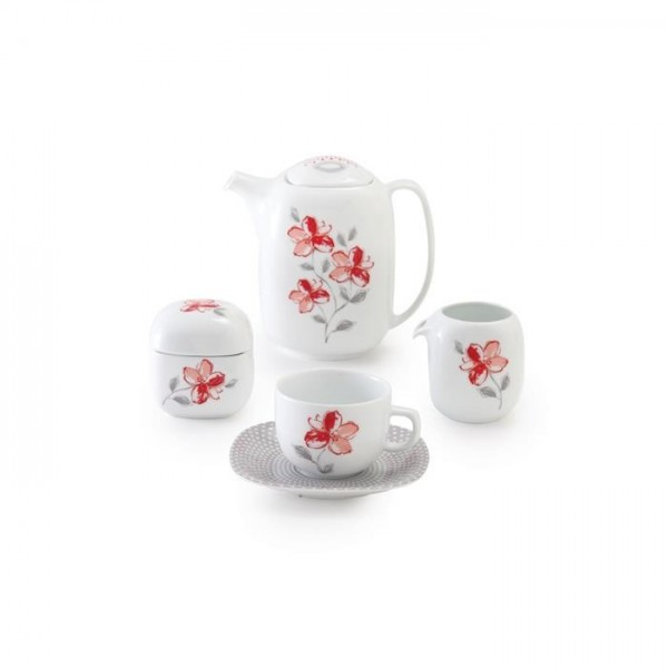 Zarin Iran Quattro Valencia Red 17pcs Tea Set