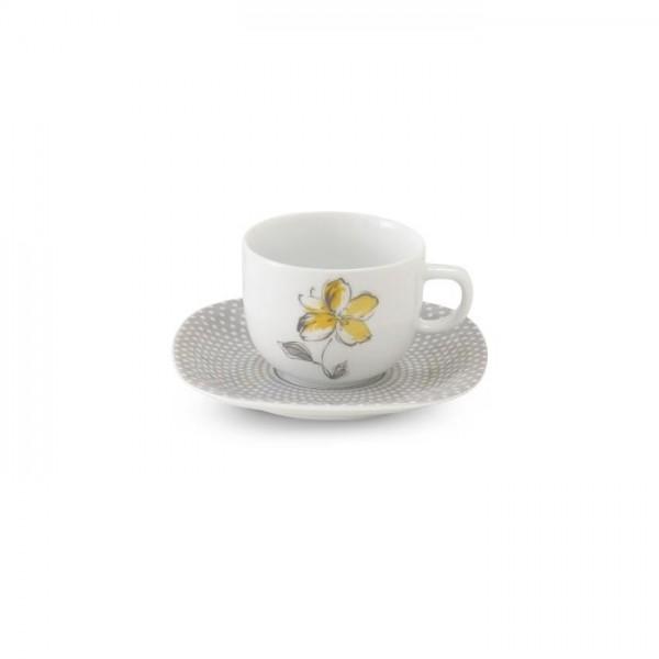 Zarin Iran Quattro Valencia Yellow 12pcs Tea Set