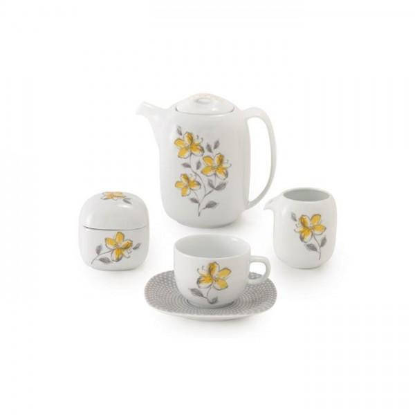 Zarin Iran Quattro Valencia Yellow 17pcs Tea Set