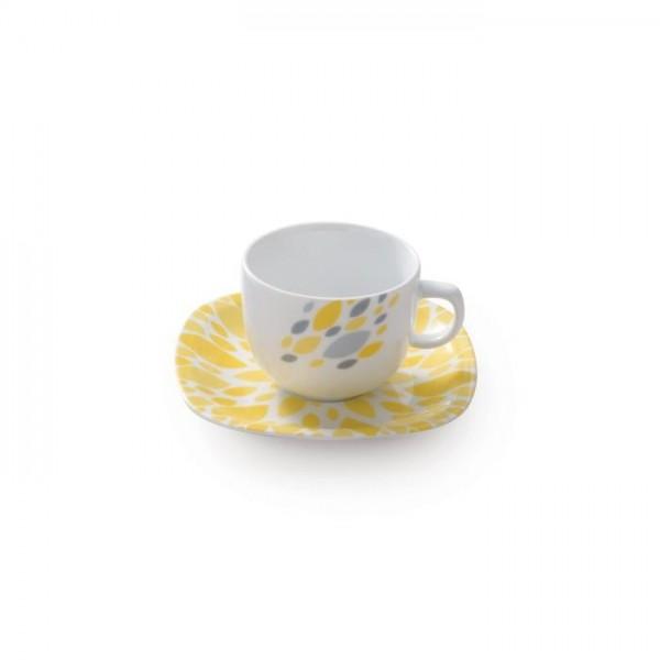 Zarin Iran Quattro Selena Yellow 12pcs Tea Set