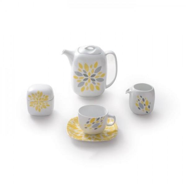 Zarin Iran Quattro Selena Yellow 17pcs Tea Set