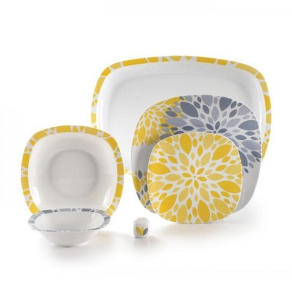 Zarin Iran Quattro Selena Yellow 27pcs Dinnerware Set