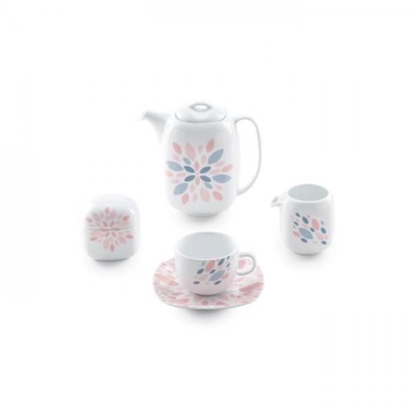 Zarin Iran Quattro Selena Pink 17pcs Tea Set