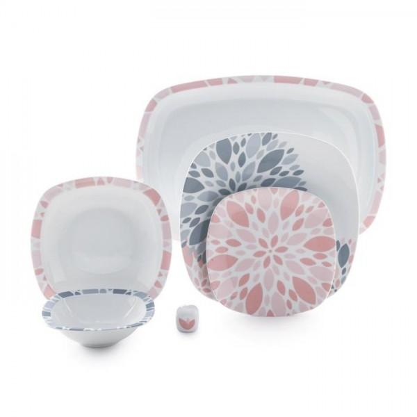 Zarin Iran Quattro Selena Pink 27pcs Dinnerware Set