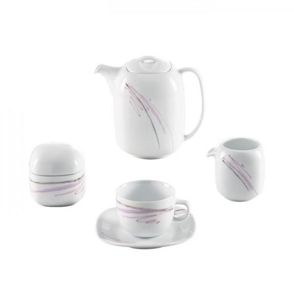 Zarin Iran Quattro Alba Platinum 17pcs Tea Set