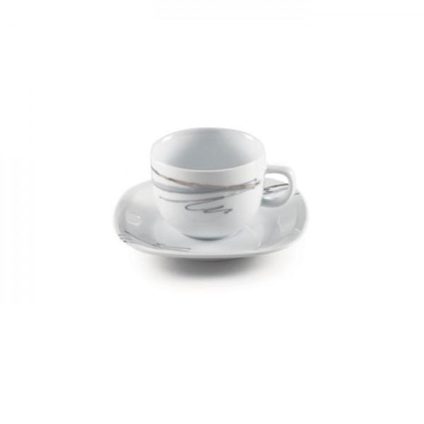 Zarin Iran Quattro Alba Gray Platinum 12pcs Tea Set