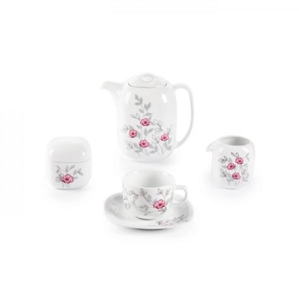 Zarin Iran Quattro Pamchal Flower 17pcs Tea Set