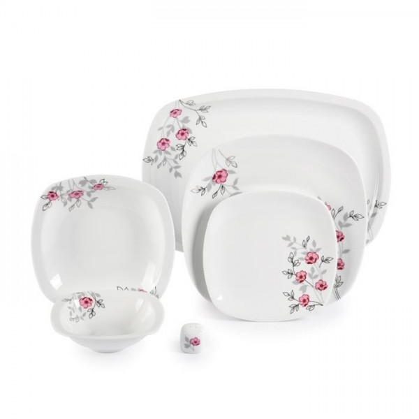 Zarin Iran Quattro Pamchal Flower 27pcs Dinnerware Set