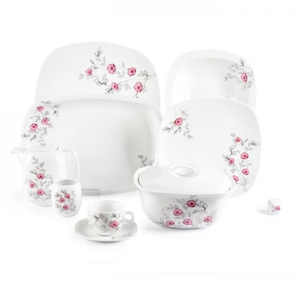 Zarin Iran Quattro Pamchal Flower 98pcs Dinnerware Set